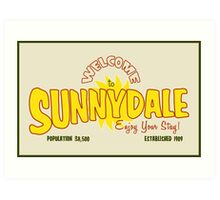 Welcome to Sunnydale Art Print