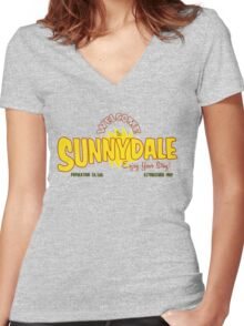 Welcome to Sunnydale Women's Fitted V-Neck T-Shirt