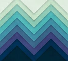 Retro Chevrons 001 by geekchic  tees