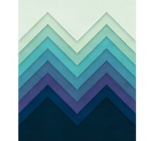 Retro Chevrons 001 Photographic Print