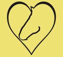 Horse-shaped heart One Piece - Short Sleeve