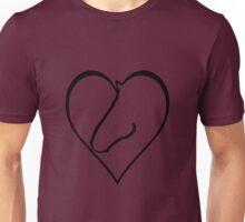 Horse-shaped heart Unisex T-Shirt