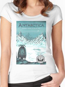Antarctic - where seeing is believing Women's Fitted Scoop T-Shirt