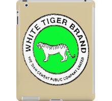 White Tiger - Green iPad Case/Skin