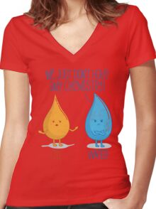 No Chemistry Women's Fitted V-Neck T-Shirt