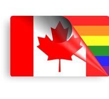 Canada Gay Pride Rainbow Flag Metal Print
