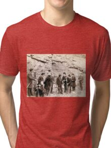 Deadwood Central RR Engineer Corps - John Grabill - 1888 Tri-blend T-Shirt