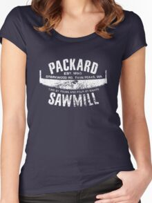Packard Sawmill (Light logo) Women's Fitted Scoop T-Shirt
