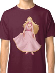 Blond Princess In Pink Yellow Dress Classic T-Shirt