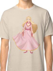 Blond Princess In Pink Yellow Dress Classic T-Shirt
