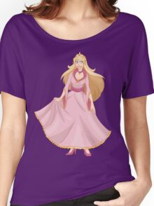Blond Princess In Pink Yellow Dress Women's Relaxed Fit T-Shirt