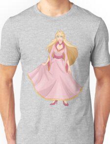 Blond Princess In Pink Yellow Dress Unisex T-Shirt
