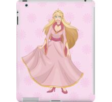 Blond Princess In Pink Yellow Dress iPad Case/Skin