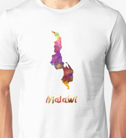 Malawi in watercolor Unisex T-Shirt