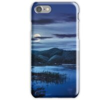 forest and river near the village in mounta at night iPhone Case/Skin
