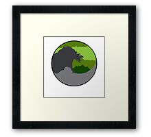 The Great Wave - Green Framed Print