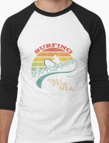 Surfing T-shirt print Design Men's Baseball ¾ T-Shirt