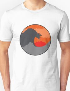 The Great Wave - Red Unisex T-Shirt