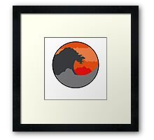 The Great Wave - Red Framed Print