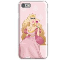 Blond Princess Smells A Rose iPhone Case/Skin