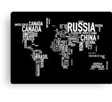 Countries of the world I Canvas Print