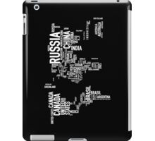 Countries of the world I iPad Case/Skin