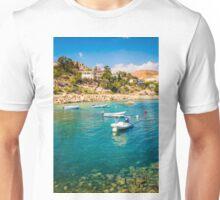 Boats at Cala del Morro Blanc Unisex T-Shirt