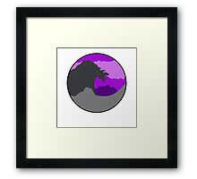 The Great Wave - Purple Framed Print