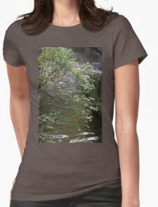 river in spring Womens Fitted T-Shirt