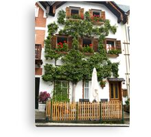 Pears grows on the house in Hallstatt Canvas Print