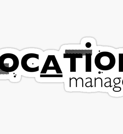 Film Crew. Location Manager. Sticker