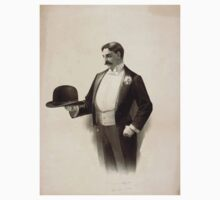 Performing Arts Posters Man wearing tuxedo holding bowler hat 1564 Baby Tee