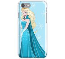 Snow Princess In Blue Dress Side iPhone Case/Skin