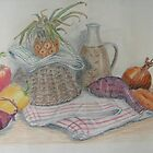 Still Life with Baby Pineapple by Geraldine M Leahy