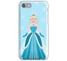 Snow Princess In Blue Dress Front iPhone Case/Skin