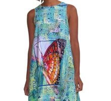 Butterfly Circuit A-Line Dress
