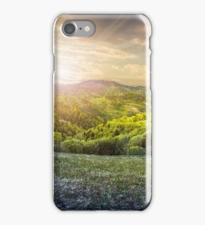 day nad night concept of Rural landscape iPhone Case/Skin