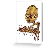 Alien Keyboard  Greeting Card