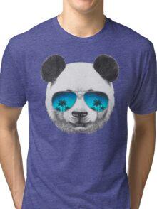Panda with sunglasses Tri-blend T-Shirt