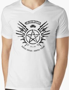Winchester Coat of Arms Mens V-Neck T-Shirt