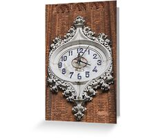 clock on the steeple Greeting Card