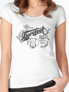 The Hobbit Barefoot Beer Shirt Women's Fitted Scoop T-Shirt