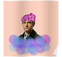 John Watson Pastel Flower Crown Poster
