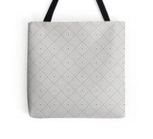Red and Gray Kaleidoscope Blocks Tote Bag