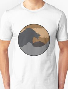 The Great Wave - Brown Unisex T-Shirt