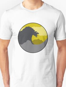 The Great Wave - Dark Yellow Unisex T-Shirt