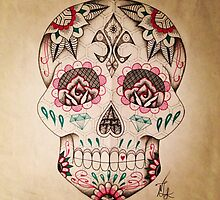 Dotwork Sugar Skull by Natasha7889