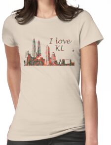 I Love KL Womens Fitted T-Shirt