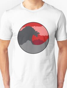 The Great Wave - Deep Red Unisex T-Shirt