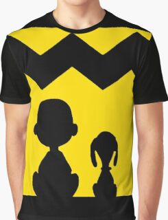 CHARLIE BROWN SNOOPY BACK BLACK Graphic T-Shirt